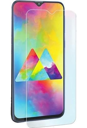 Ehr. Samsung Galaxy M10 Araç İçi Mıknatıslı Yüzüklü Soft Kılıf + Nano Ekran Koruyucu Cam Siyah - Kırmızı