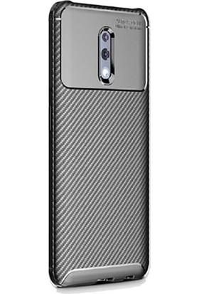 Ehr. Oppo Reno Karbon Desenli Megro Silikon Arka Kapak Siyah