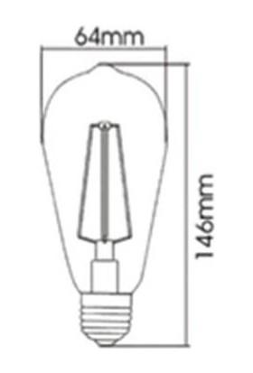 Braytron Rustik LED Ampül Flamanlı 6W E-27 - Bb 46 - 00620