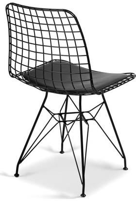 Pikare Mobilya Tel Sandalye 4'lü