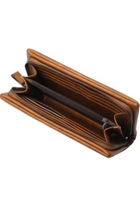 Baellerry Premium Hakiki Yumuşak Deri - Uzun Erkek Cüzdan - Taba