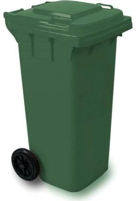 Derin Yeşil Konteyner Çöp Kovası 120 Lt.