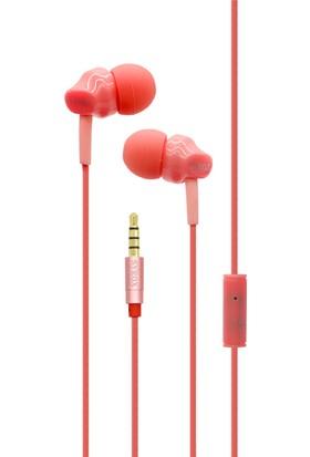Syrox K8 Mikrofonlu Kulakiçi Kulaklık Kırmızı