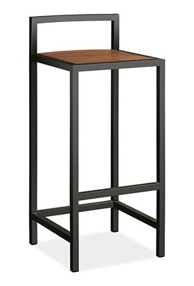 Doffo Metal Ayak Masif Ahşap Bar Sandalyesi Bar Taburesi - Board