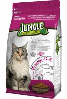 Jungle Somonlu Kısır Kedi Maması 500 g