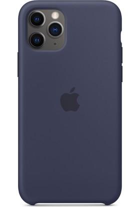 Apple iPhone 11 Pro Silikon Kılıf - Gece Mavisi - MWYJ2ZM/A