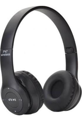 Sunix P47 Bluetooth Kulaküstü Kulaklık - Siyah
