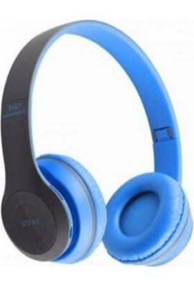 Sunix P47 Bluetooth Kulaküstü Kulaklık - Mavi