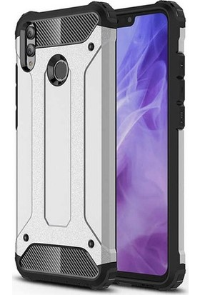 Kaltel Gsm Huawei Honor 8X Ultra Lüx Çift Katmanlı Darbe Emici Crash Kılıf Gümüş