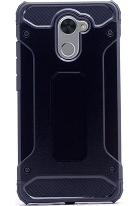 Kaltel Gsm Huawei Y7 Prime Ultra Lüx Çift Katmanlı Darbe Emici Crash Kılıf Siyah