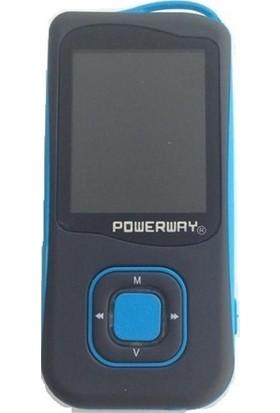Powerway PV-007 4 GB Şarjlı MP3 / MP4 Player Mavi