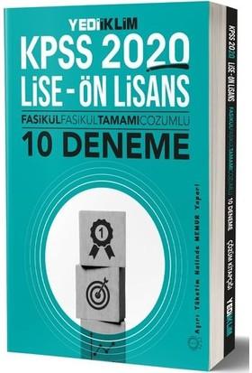 Yediiklim Yayınları Kpss 2020 Lise Önlisans Fasikül Fasikül Tamamı Çözümlü 10 Deneme