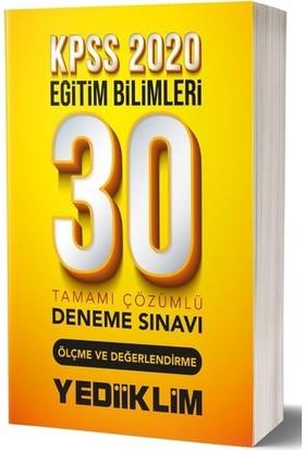 Yediiklim Yayınları KPSS 2020 Eğitim Bilimleri Ölçme Ve Değerlendirme Tamamı Çözümlü 30 Deneme