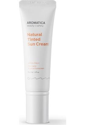 Aromatica Natural Tinted Sun Cream Light Beige SPF30PA++ - Doğal Güneş Kremi ve Makyaj Bazı Açık Bej SPF30PA++