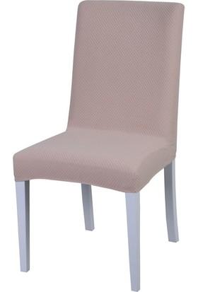 Latuda Likralı Yıkanabilir Sandalye Kılıfı Kapuçino 6'lı