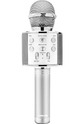 Concord C-792 Bt/tf/usb/fm Silver Karaoke Mikrofon Gri