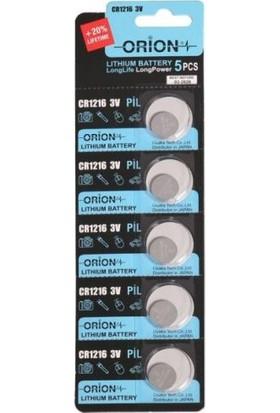 Orion CR1216 3V Lithium Pil / 5'li Kart