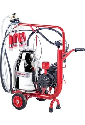 Kurtsan Tek Sağım Krom Güğüm Cyk Inek Süt Sağma Makinası 30 Litre