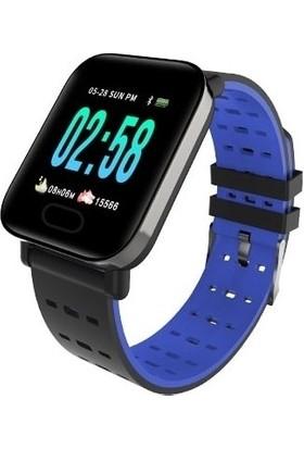 Smart Bracelet A6 Akıllı Saat - Mavi