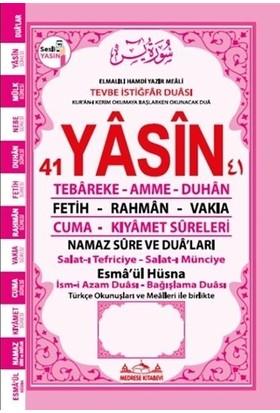 Sesli Yasin Türkçe Okunuşları ve Mealleri ile Birlikte - Pembe Orta Boy