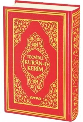 Tecvidli Kur'an-ı Kerim Cami Boy Mühürlü (Kırmızı Kapaklı) (135TR)