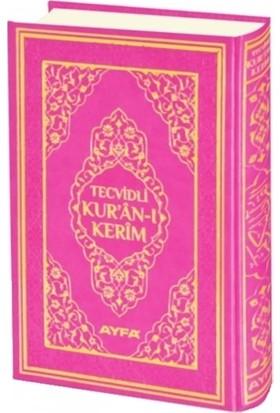 Tecvidli Kur'an-ı Kerim Cami Boy Mühürlü (Pembe Kapaklı) (135TR)