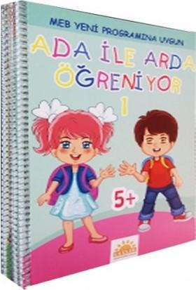 Ada ile Arda Öğreniyor 5+ Yaş Eğitim Seti 10 Kitap