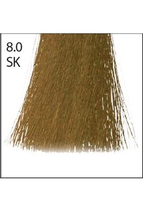 Baco Kalıcı Saç Boyası Sk 8.0 Silkera Açık Kumral