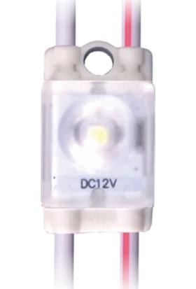 Tekli Mini Beyaz Mercekli LED Modül 0.50 Watt 12V - 10 Adet