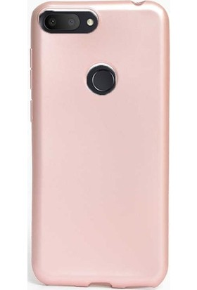 89 Go Alcatel 1S Silikon Kılıf Rose Gold