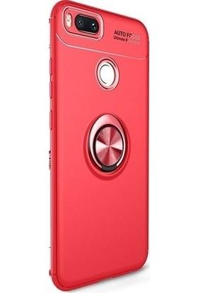 89 Go Xiaomi Mi 5X Yüzüklü Bovvel Silikon Kılıf Kırmızı