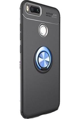 89 Go Xiaomi Mi 5X Yüzüklü Bovvel Silikon Kılıf Siyah Mavi