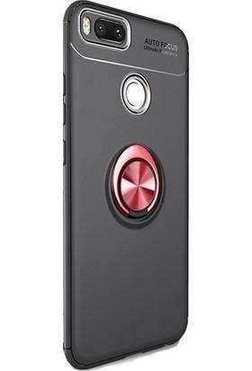 89 Go Xiaomi Mi 5X Yüzüklü Bovvel Silikon Kılıf Siyah Kırmızı