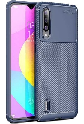 Teleplus Xiaomi Mi9 Lite Negro Karbon Desenli Silikon Kılıf Lacivert