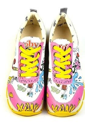 Goby - Anouk Kadın Tasarım Sneaker Pembe