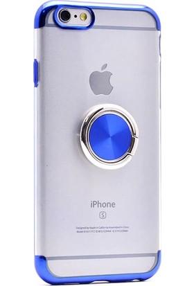 Eren Iletişim Apple iPhone 6 / 6s Yüzüklü Lazer Mavi Kılıf