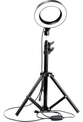 """Blackmarket 14"""" Işık 2 m Stand Kuaför Makyaj Canlı Yayın Çekimleri Sürekli Işık Stüdyo Işığı Ring Light"""
