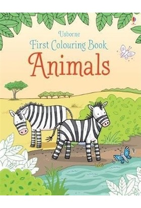 First Colouring Book Animals