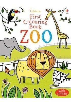 First Colouring Book Zoo - With Stickers