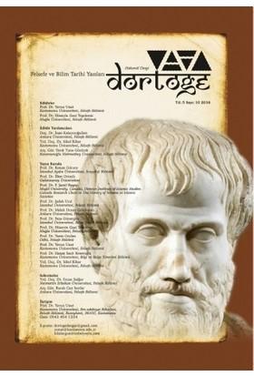 Dörtöğe Felsefe ve Bilim Tarihi Yazıları Hakemli Dergisi Sayı: 10 Aralık 2016