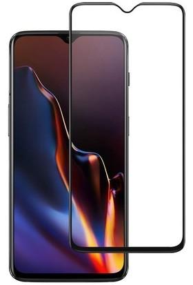 Coverzone Oneplus 7 5D Çerçeveli Tempered Ekran Koruyucu Siyah