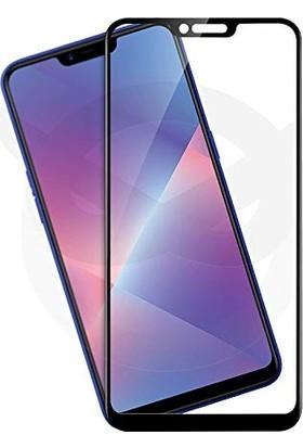 Coverzone Oppo A5s 5D Çerçeveli Tempered Ekran Koruyucu Siyah