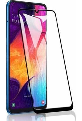 Coverzone Samsung Galaxy A10s 5D Çerçeveli Tempered Ekran Koruyucu Siyah