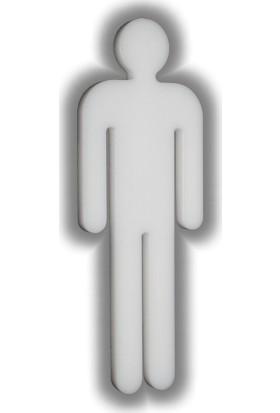 Passpano Dekupe Sembol BAY WC Beyaz Sembol 12 cm