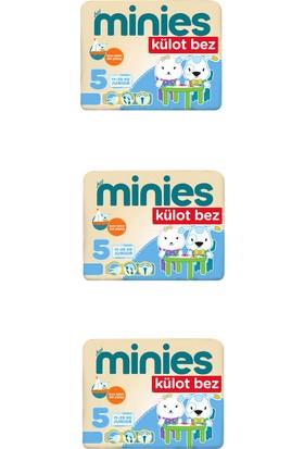 Minies 5 Numara Külot Bez 23x3=69 Adet Külot Bebek Bezi 3'lü Paket
