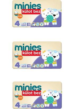 Minies 4 Numara Külot Bez 30x3=90 Adet Külot Bebek Bezi 8-14 Kg
