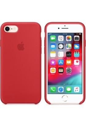 Gezegen Aksesuar Apple iPhone 8 Kılıf - Kırmızı