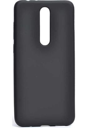 Case Street Nokia 3.1 Plus Kılıf Premier Silikon Esnek Koruma + Nano Glass Siyah