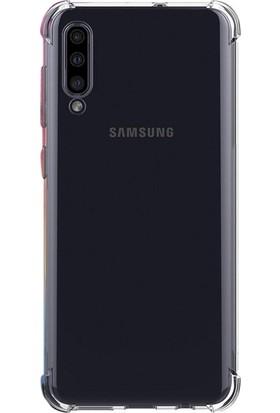 Case Street Samsung Galaxy A30s Kılıf AntiShock Ultra Koruma + Nano Glass Şeffaf