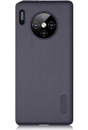 Gpack Huawei Mate 30 Pro Kılıf Trio Silikon Çizgili Lüx Arka Koruma Lacivert